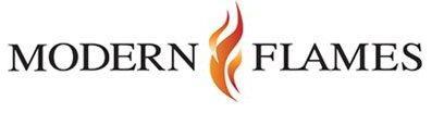 modern flames logo white